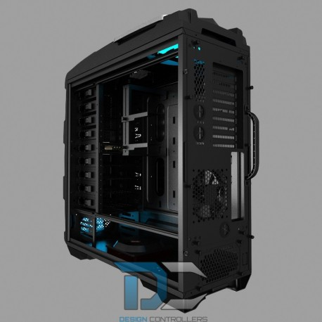 ATX AZZA TITAN 240X, 2xUSB 2.0, 2xUSB 3.0, BEZ ZASILACZA, CZARNY. WINDOW
