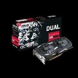 Karta VGA Asus RX 580 Dual fan OC 8GB GDDR5 256bit DVI+2xHDMI+2xDP PCIe3.0
