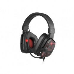 Słuchawki z mikrofonem Genesis Radon 710 Gaming czarno czerwone