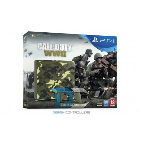Sony Playstation 4 1TB Slim + Call of Duty WW2 Green Camouflage Limited edition