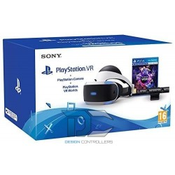 Sony PlayStation VR+2x PS Move+Camera V2+VR Worlds