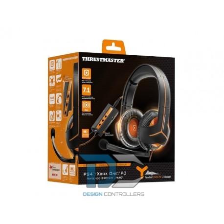 Słuchawki nauzne Thrustmaster Y-350CPX 7.1 z mikrofonem - czarno-pomarańczowe