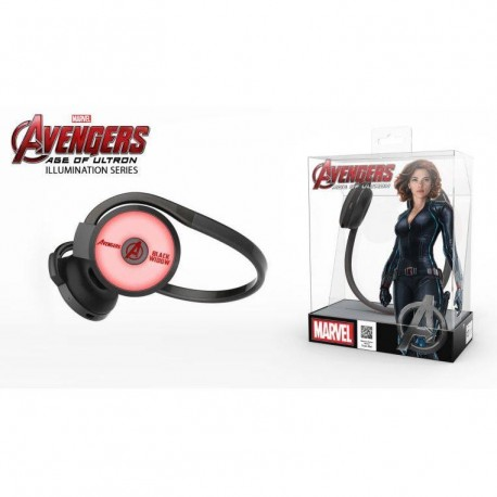 Słuchawki bezprzewodowe z mikrofonem E Blue Avengers Black Widow EBT932BK czarno czerwone