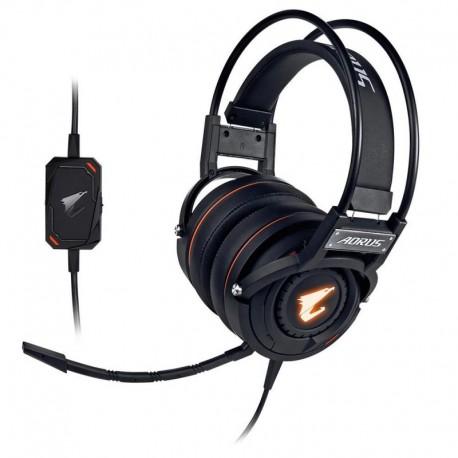Słuchawki z mikrofonem Gigabyte AORUS H5 Gaming czarne