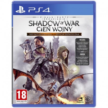 Middle earth: Shadow of War (Śródziemie: Cień Wojny) Definitive Edition (PS4)