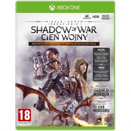 Middle earth: Shadow of War (Śródziemie: Cień Wojny) Definitive Edition (XBOX One)