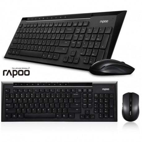 Zestaw bezprzewodowy klawiatura + mysz Rapoo 5G 8200P czarny
