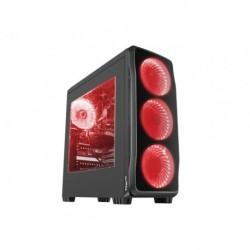 OBUDOWA GENESIS TITAN 750 RED MIDI TOWER (Z OKNEM, REG. OBR., USB 3.0, BEZ PSU)