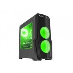OBUDOWA GENESIS TITAN 800 GREEN MIDI TOWER (Z OKNEM, USB 3.0, BEZ PSU)