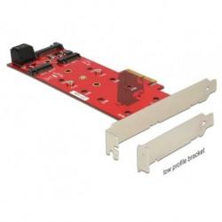 KARTA PCI EXPRESS 2X M.2 KEY B NVME + 1X M.2 KEY M+2X SATA 6GB S LOW PROFILE DELOCK (PO TESTACH)