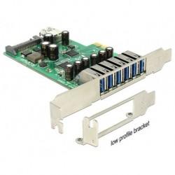 KARTA PCI EXPRESS USB 3.0 6 PORT + 1X WEWNĘTRZNY USB 3.0 DELOCK (PO TESTACH)