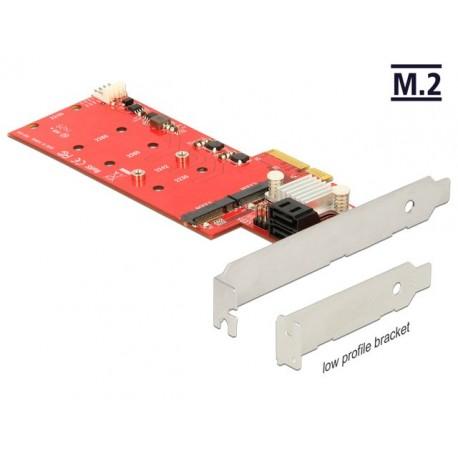 KARTA PCI EXPRESS 2X M.2 KEY B+2X SATA 6GB S HYBRID RAID LOW PROFILE DELOCK (PO TESTACH)