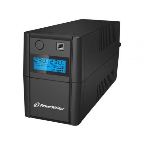 UPS POWERWALKER LINE INTERACTIVE 850VA, 2X SCHUKO, RJ11 IN OUT, USB, LCD (USZKODZONE OPAKOWANIE)