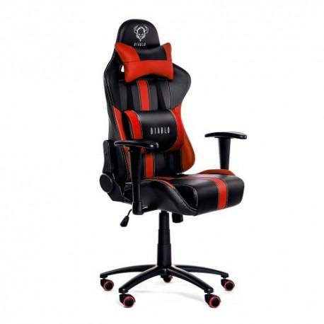 czarno-czerwony fotel dla graczy Diablo X-Player