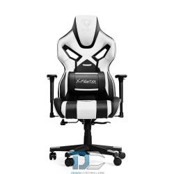 czarno-biały fotel gamingowy Diablo X-Fighter