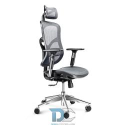 Fotel biurowy, ergonomiczny - Diablo Chair V-BASIC - szaro-czarny
