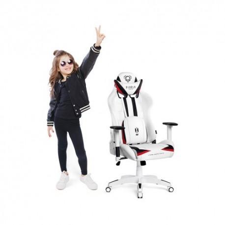 czarno-biały fotel dziecięcy Diablo X-Ray Kids (S)