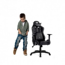 czarno-czarny fotel dziecięcy Diablo X-Ray Kids (S)