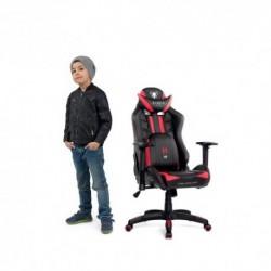 czarno-czerwony fotel dziecięcy Diablo X-Ray Kids (S)