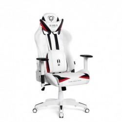 czarno-biały fotel gamingowy Diablo X-Ray Large (L)