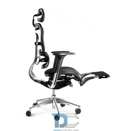 Fotel biurowy Diablochair V-MASTER czarno-szary