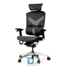 Antracytowy Fotel ergonomiczny DIABLO V-DYNAMIC czarny