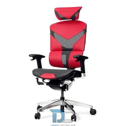 Karmazynowy fotel ergonomiczny DIABLO V-DYNAMIC