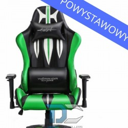 Fotel dla gracza Warriors Chair Sword Green powystawowy