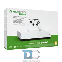 Konsola Xbox One S 1TB All Digital z grami Sea of Thieves, Minecraft i dodatkiem do Fortnite