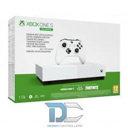 Konsola Xbox One S 1TB All Digital z grami Sea of Thieves, Minecraft i dodatkiem do Fortnite
