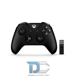 Kontroler Gamepad Microsoft Xbox One + bezprzewodowy adapter dla Windows 10