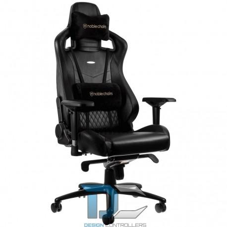 Fotel dla gracza Noblechairs EPIC Real Leather (czarny)