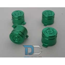 PS4 Aluminiowe przyciski do pada Green