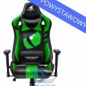 Fotel dla gracza Dragon GREEN Warrior Chair powystawowy