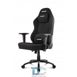 Czarny materiałowy fotel gamingowy i do biura Akracing Office Opal