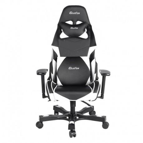 Fotel gamingowy Crank Series Charlie Czarno Biały