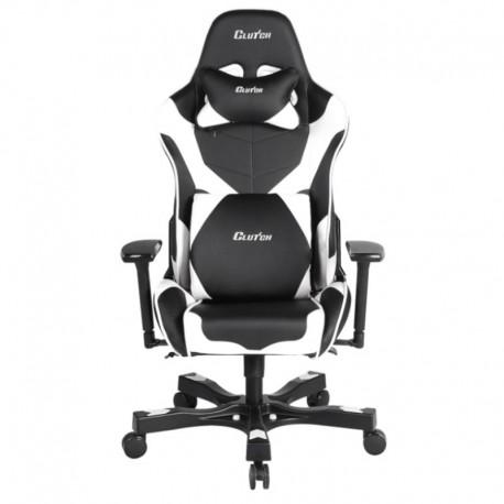 Fotel gamingowy Crank Series Echo Czarno Biały