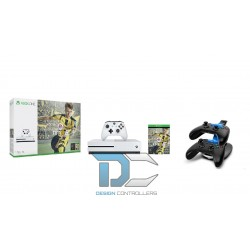 Konsola Microsoft XBOX One S 1TB BIAŁY + FIFA 17 + 6M LIVE GOLD + podwójna ładowarka stojąca