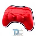 PlayStation 4 / PRO / Slim etui na kontroler czerwone z 4 naklejkami na lightbar