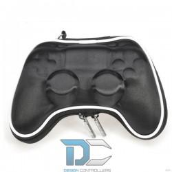 Czarne materiałowe etui na kontroler PlayStation 4 + naklejki na lightbar