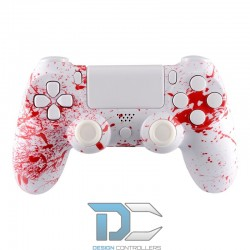 PlayStation 4 obudowa do kontrolera splashed Red