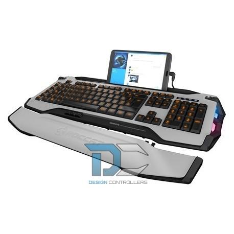 Klawiatura Roccat Skeltr White Smart Communication RGB Gaming Keyboard
