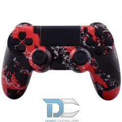 PlayStation 4 obudowa do kontrolera Red Splatter