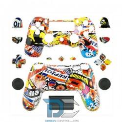 PlayStation 4 obudowa do kontrolera Sticker Bomb