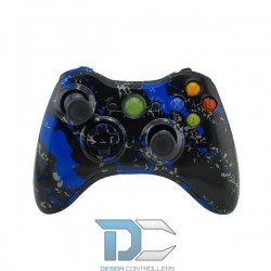 XBOX 360 obudowa do kontrolera Army Camo Blue