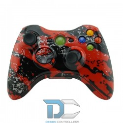 XBOX 360 obudowa do kontrolera Army Camo Red