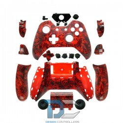 XBOX One obudowa do kontrolera Red Skull