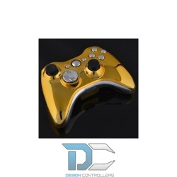XBOX 360 obudowa do kontrolera Glossy Gold