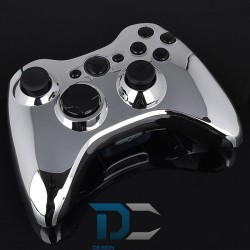 XBOX 360 obudowa do kontrolera Polished Glossy Silver