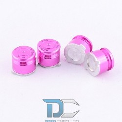 PS4 Aluminiowe przyciski do kontrolera Pink